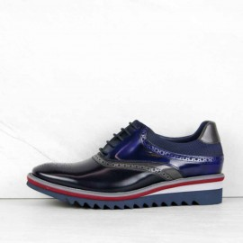 BLUCHER flor antic azul