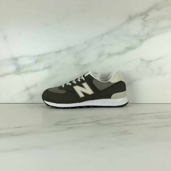 SNEAKER TAUPE blanco